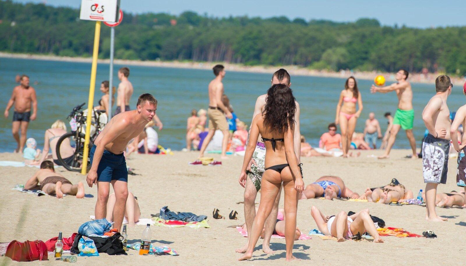 Pirita rand. Eestis pole paljaste rindadega rannas käimine nii levinud kui Saksamaal