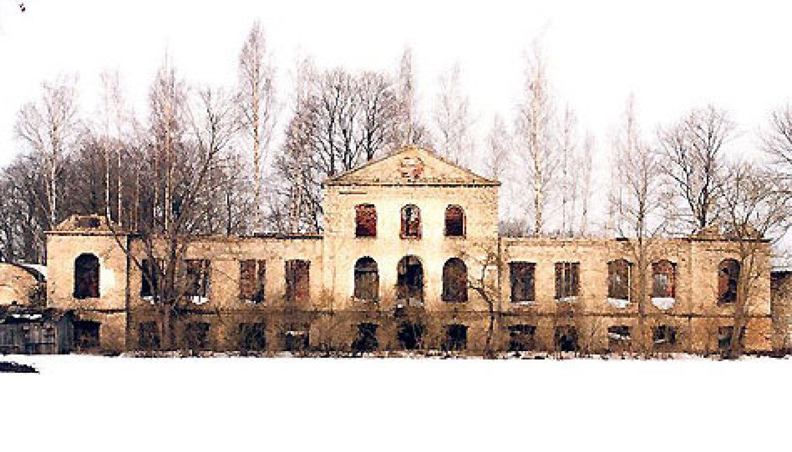 Keava mõisa härrastemaja varemed tänapäeval.