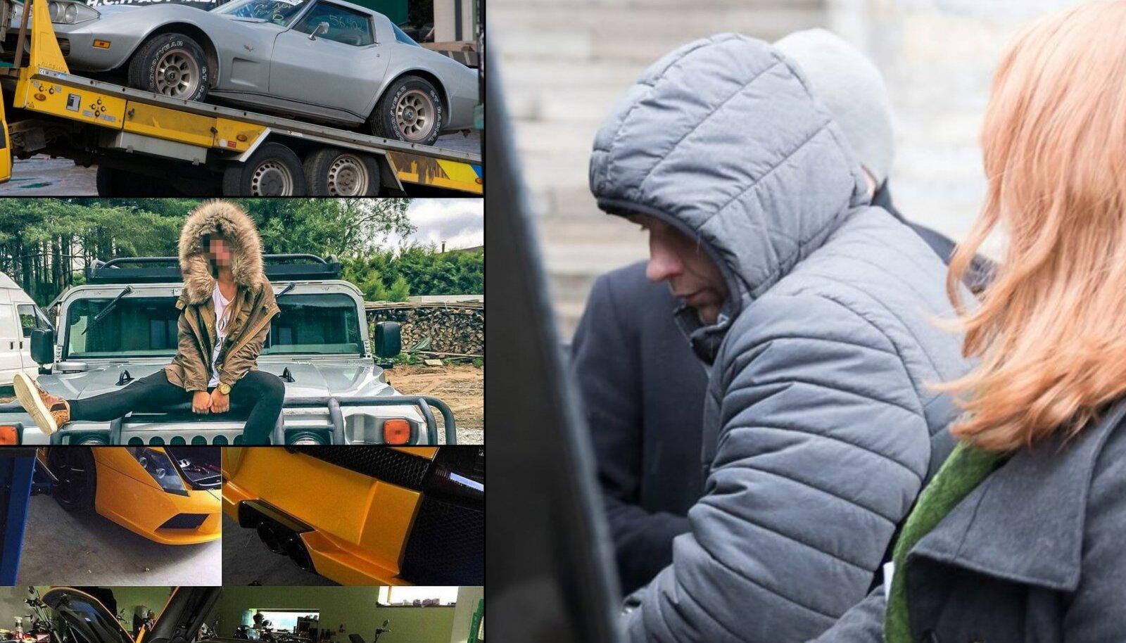 JAANUS VINK JA TEMA AUTOPARK: Tallinna Linnatranspordi bussiremonditöökoja asejuhi autpargist võis leida ka Lamborghini ja Hummeri.
