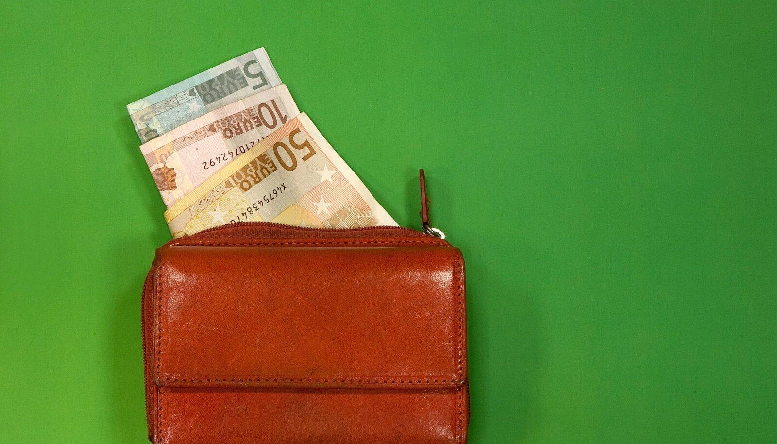 Rahakott eurodega