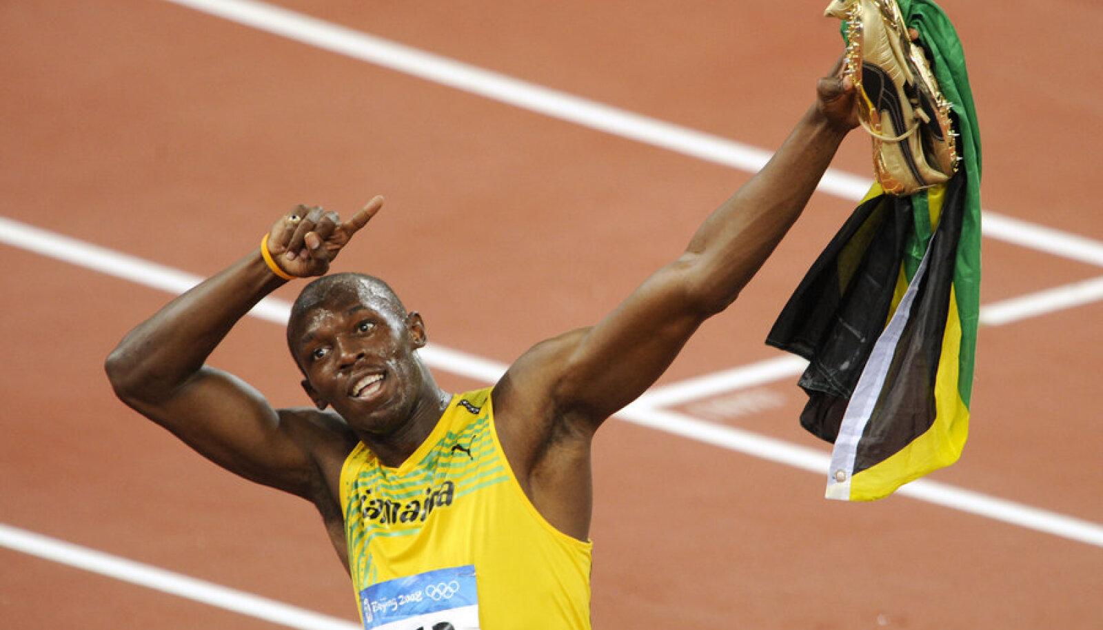 Bolt võitis kananagitsate toel Pekingis kolm kuldmedalit.