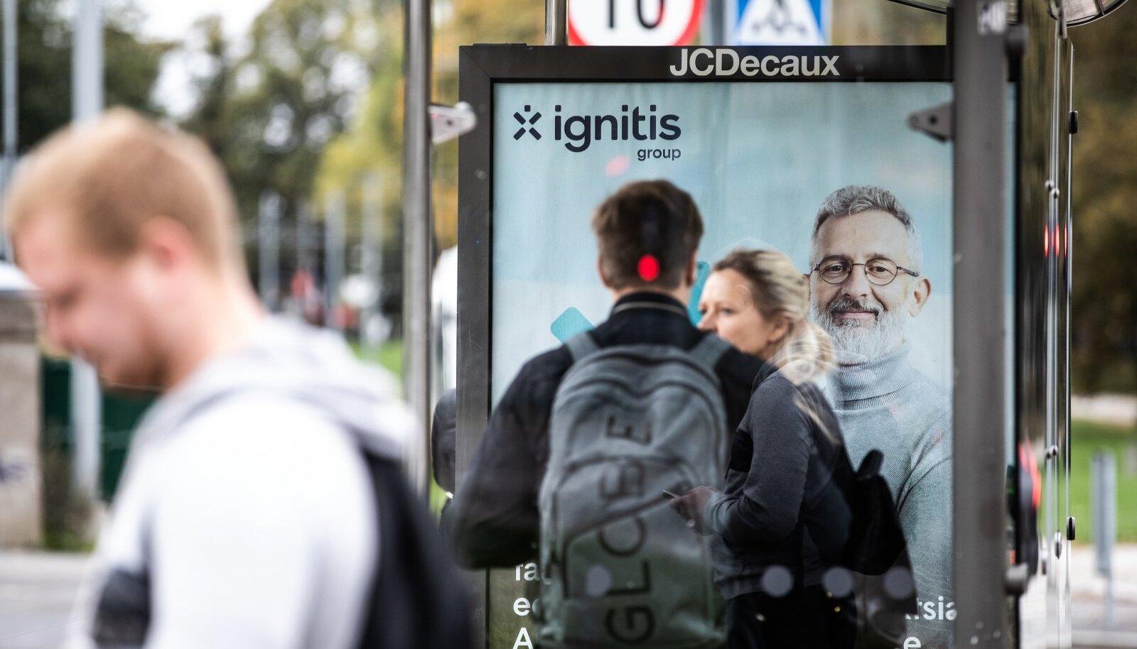 Ignitis Groupi aktsiapakkumise reklaam