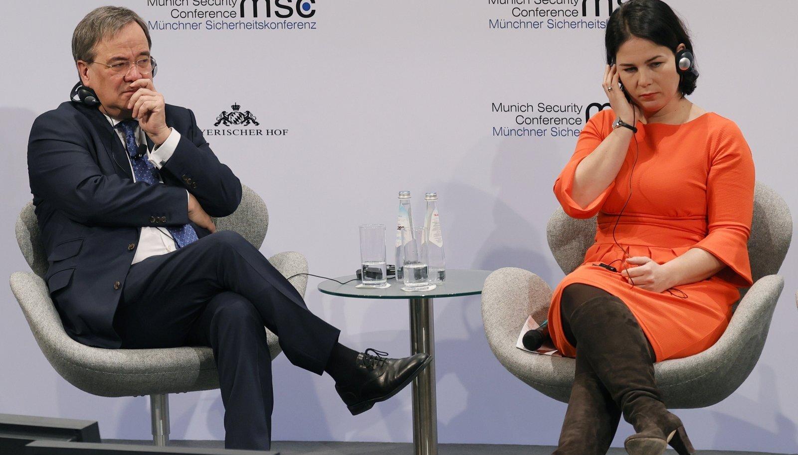 Armin Laschet ja Annalena Baerbock mullusel julgeolekukonverentsil