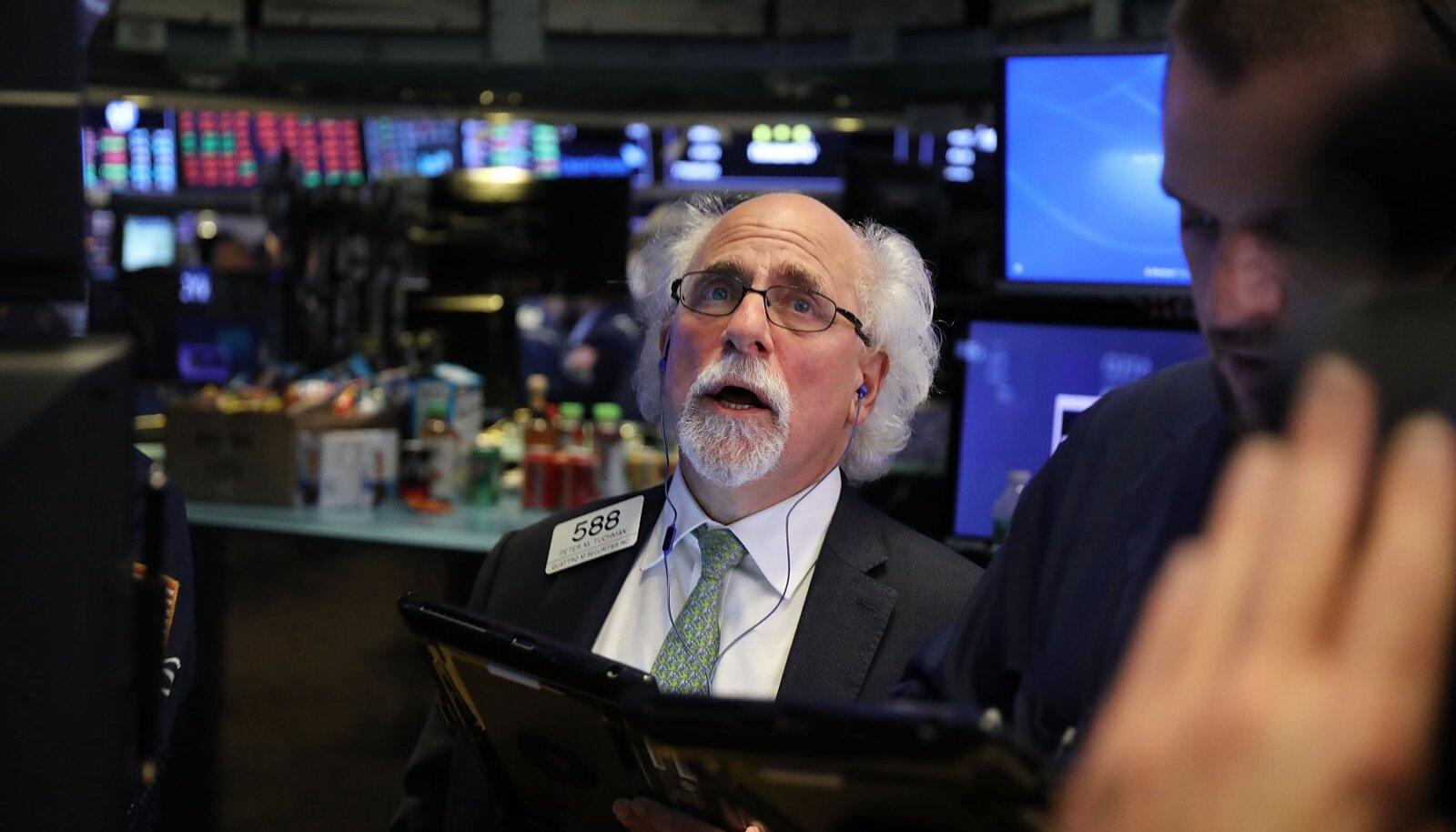 Börsimaakler eile New Yorgi börsil