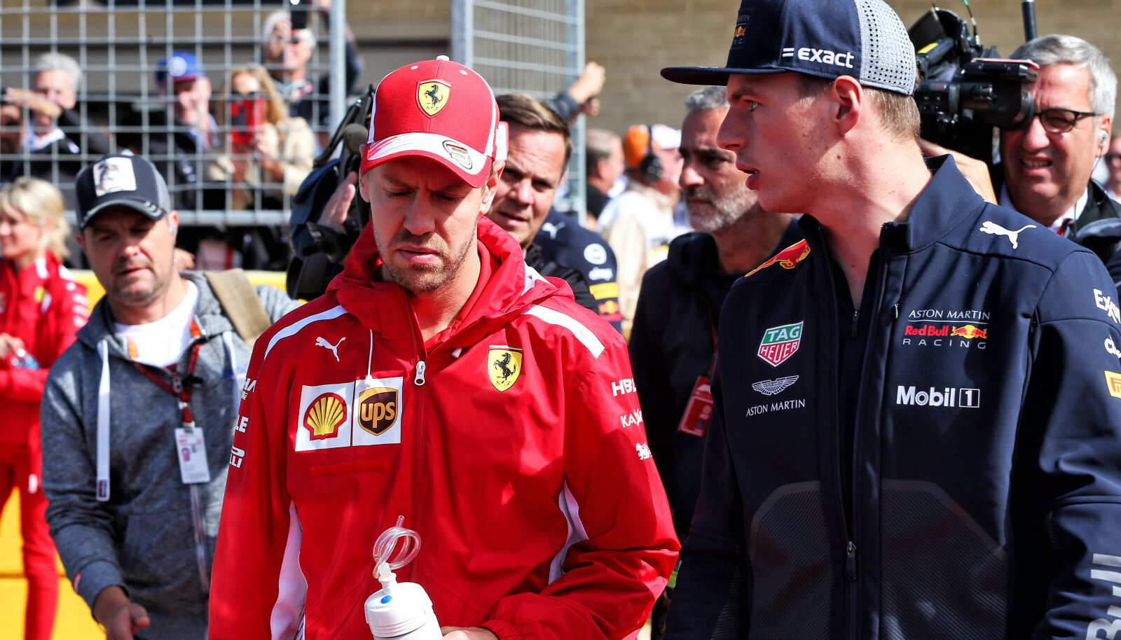 Sebastian Vettel ja Maxx Verstappen