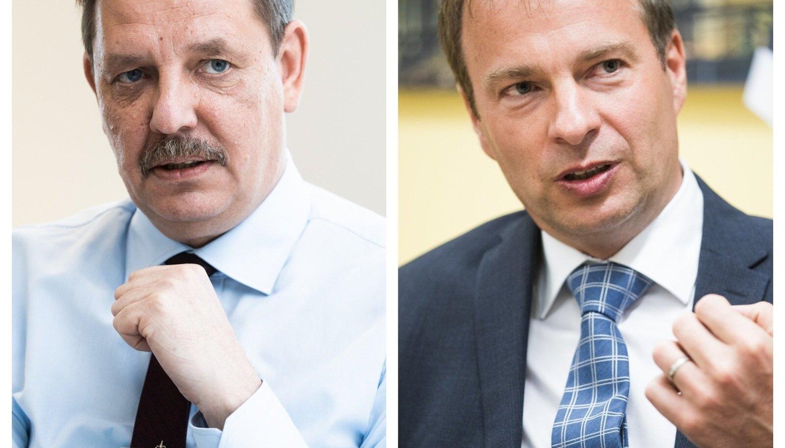Majandusminister Taavi Aas ja Eesti Energia juht Hando Sutter