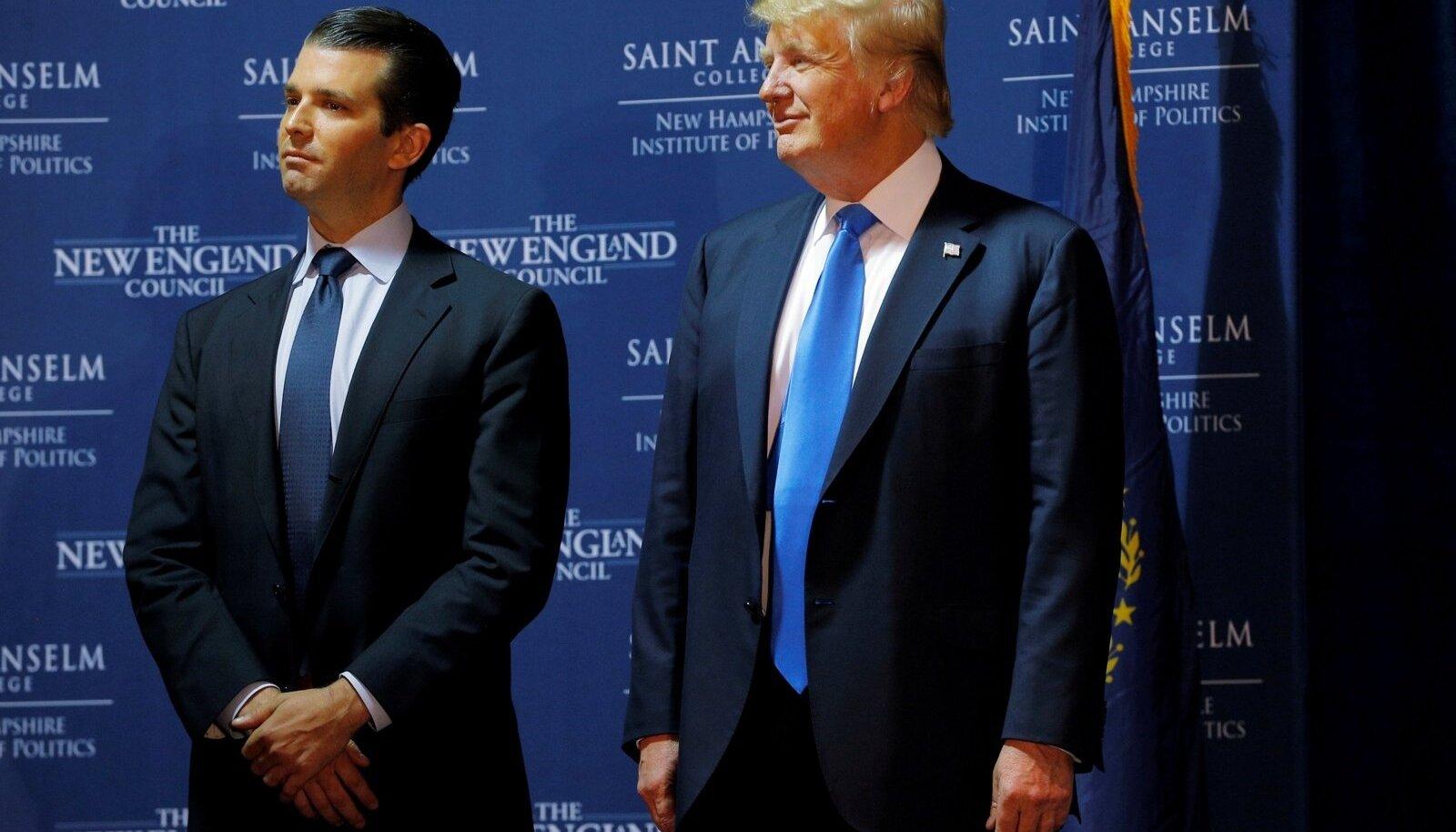 Donald Trump Jr ja Donald Trump