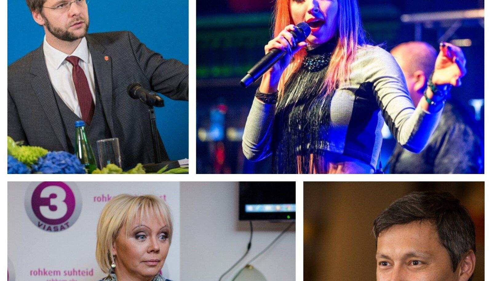 Jevgeni Ossinovksi, Tanja Mihhailova-Saar, Ilona Kaldre ja Mihhail Kõlvart