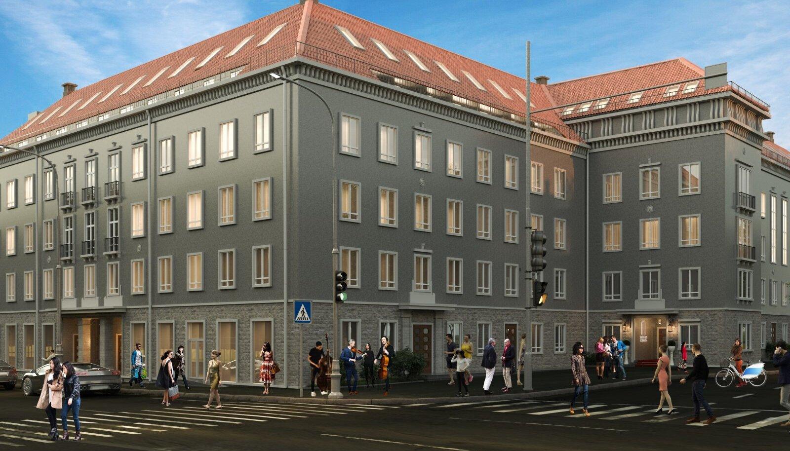 Здание, спроектированное в 1947 году немецким архитектором Х. Арманом, возрождено и осовременено архитектурным бюро Alver Arhitektid.
