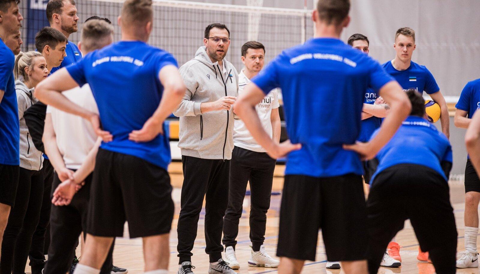 Eesti võrkpallikoondise pressiüritus, peatreener Cedric Enard