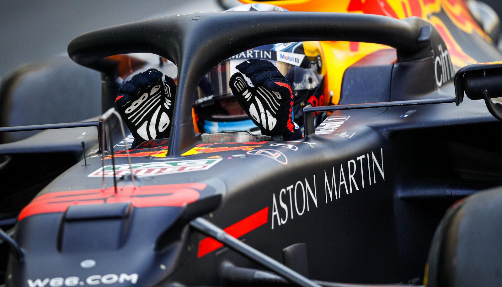 Jüri Vips täna Red Bulli RB16 vormeli roolis.