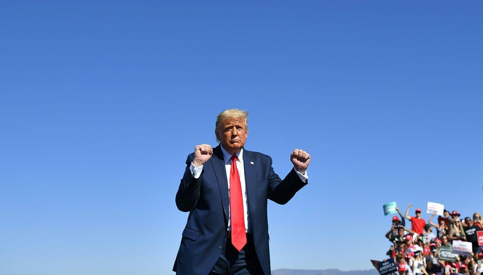 ÜRITUS KESTAB: Kui Trump suudab oma valijat agiteerida ja ta täiel määral valima tuua, on tal võimalus presidendina jätkata.