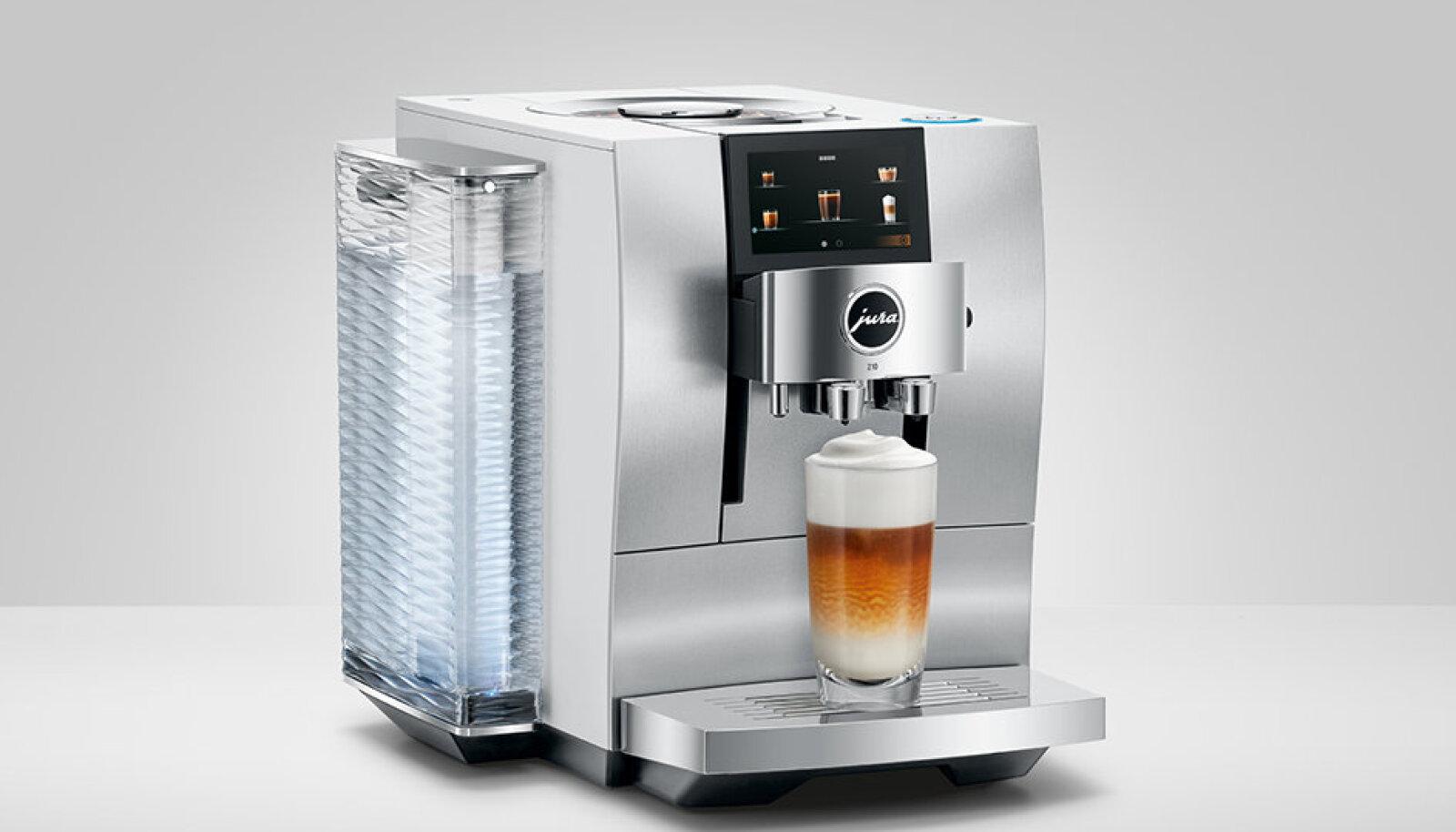 JURA Z10 mudeli näol on tegemist maailma esimese espressomasinaga nii soojade kui külmade kohvijookide nautimiseks.