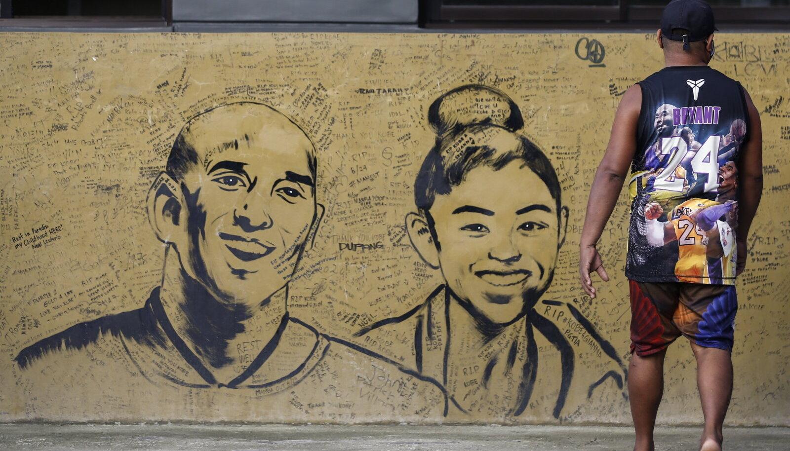 Kobe ja Gianna Bryantile on austust avaldanud ka paljud tänavakunstnikud.