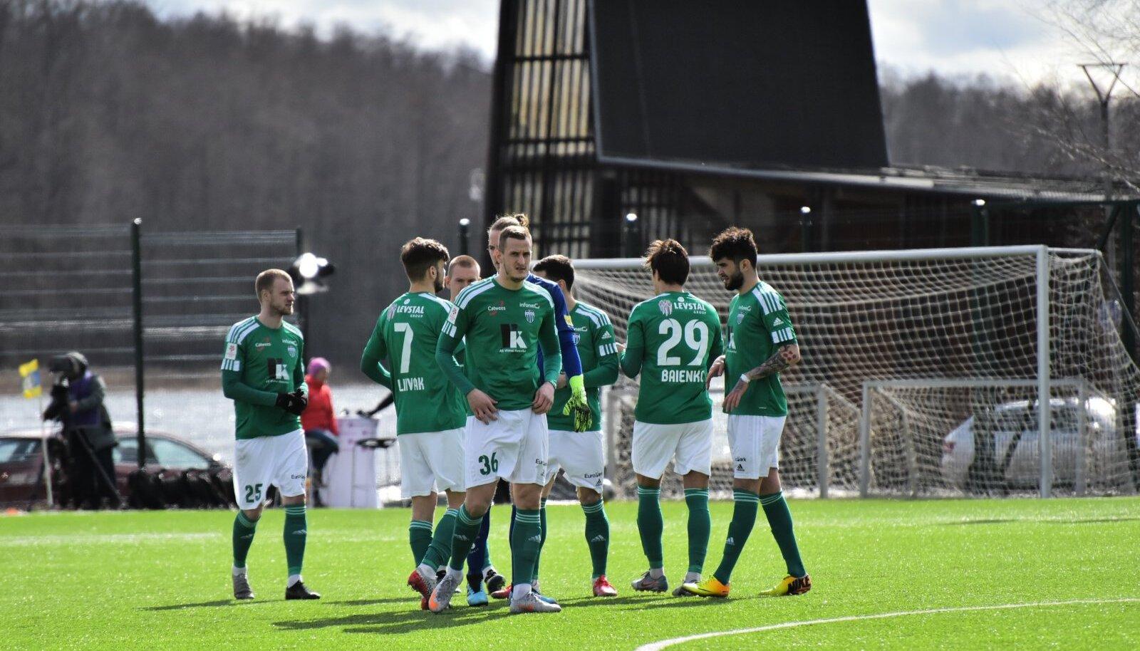 Premium Liiga jalgpallis Viljandi JK Tulevik ja FCI Levadia.