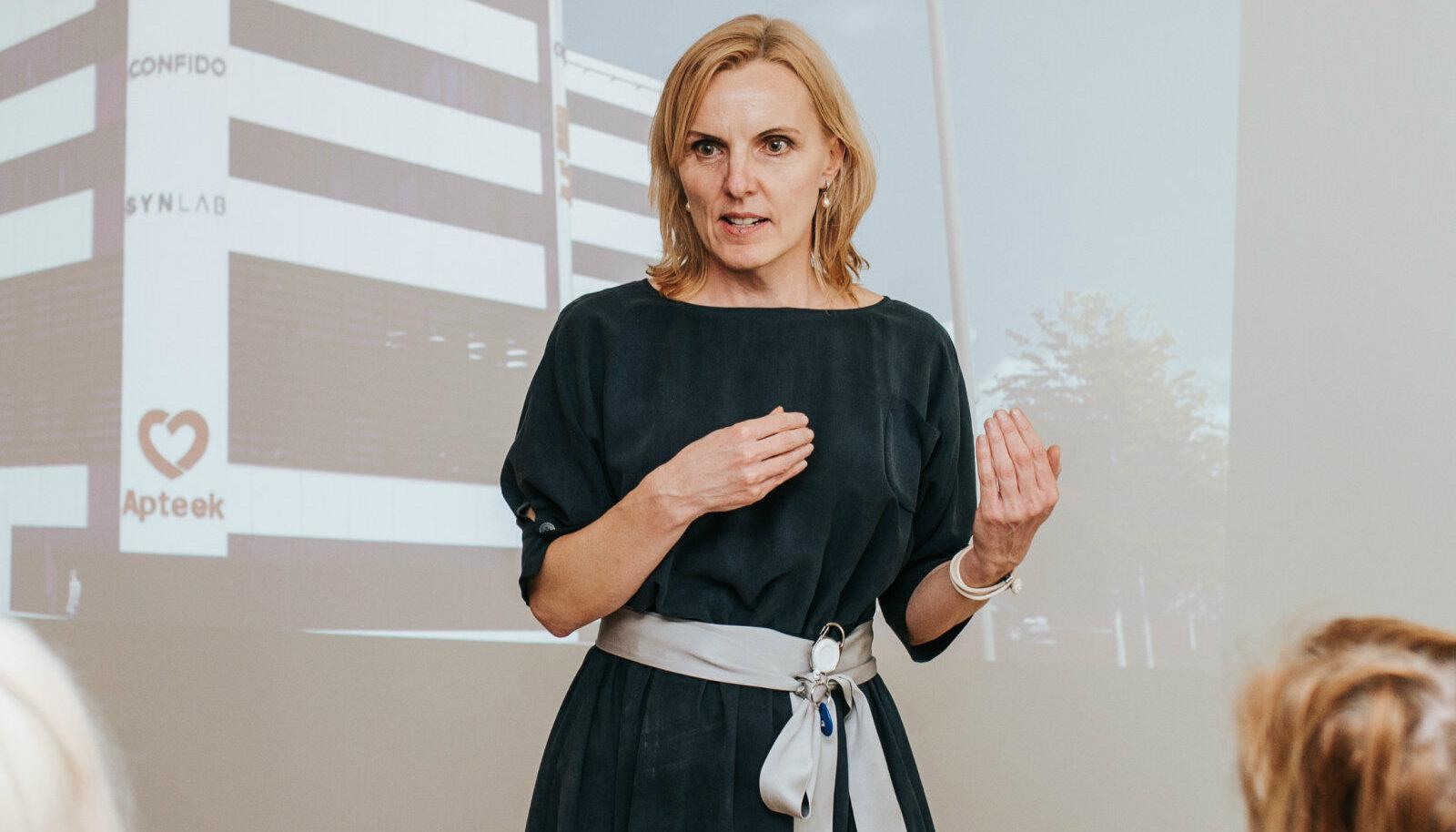 Erameditsiinikeskuse Confido juht Kadi Lambot Veerenni Tervisekeskuse avamisel
