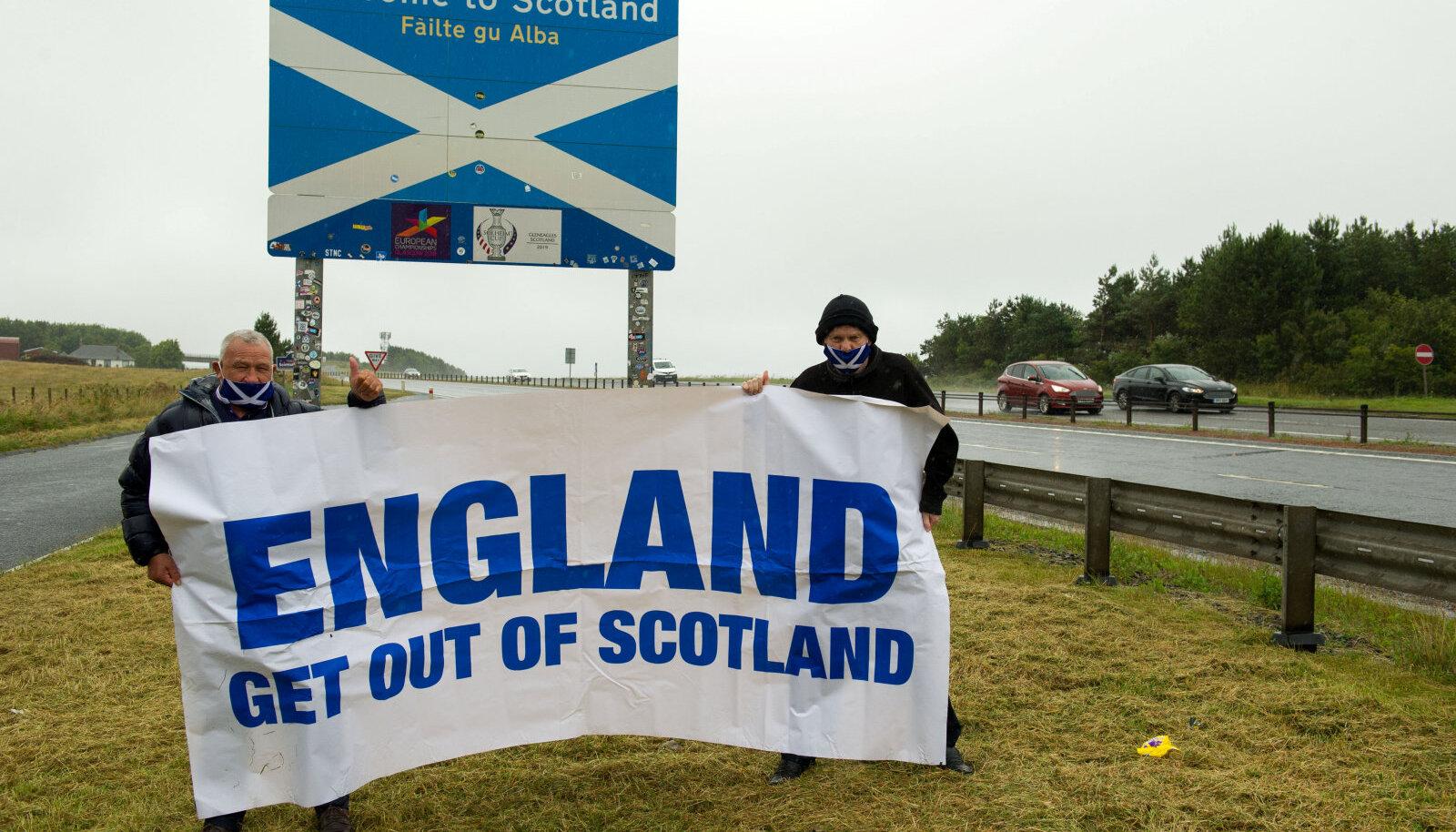 Protestijad Inglismaa-Šotimaa piiril