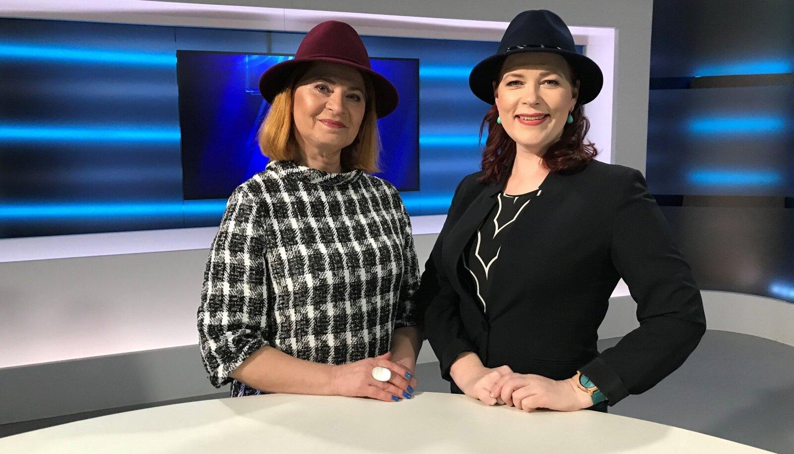 "Sirje Eesmaa ja Annely Adermann TV3 ""Seitsmeste"" stuudios"