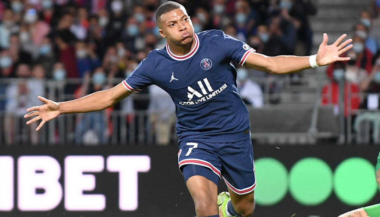 Kylian Mbappe lõi PSG teise värava