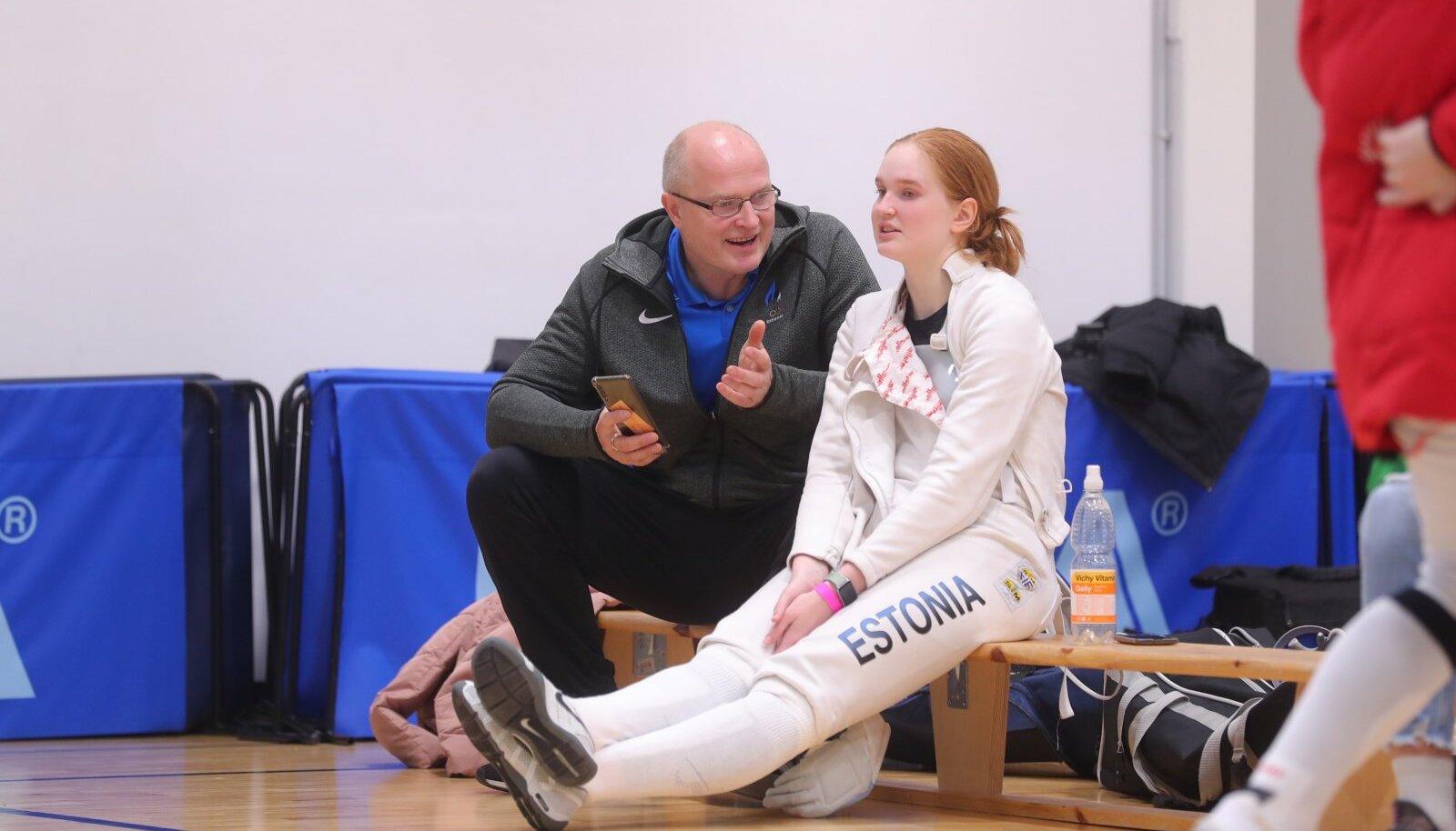 Kaido Kaaberma juhendas Eesti meistrivõistlustel tütart ega teadnud, kas on Eesti epeenaiskonna peatreener.