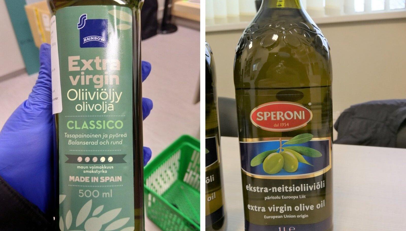 Nõuetele mitte vastavad oliivõlid