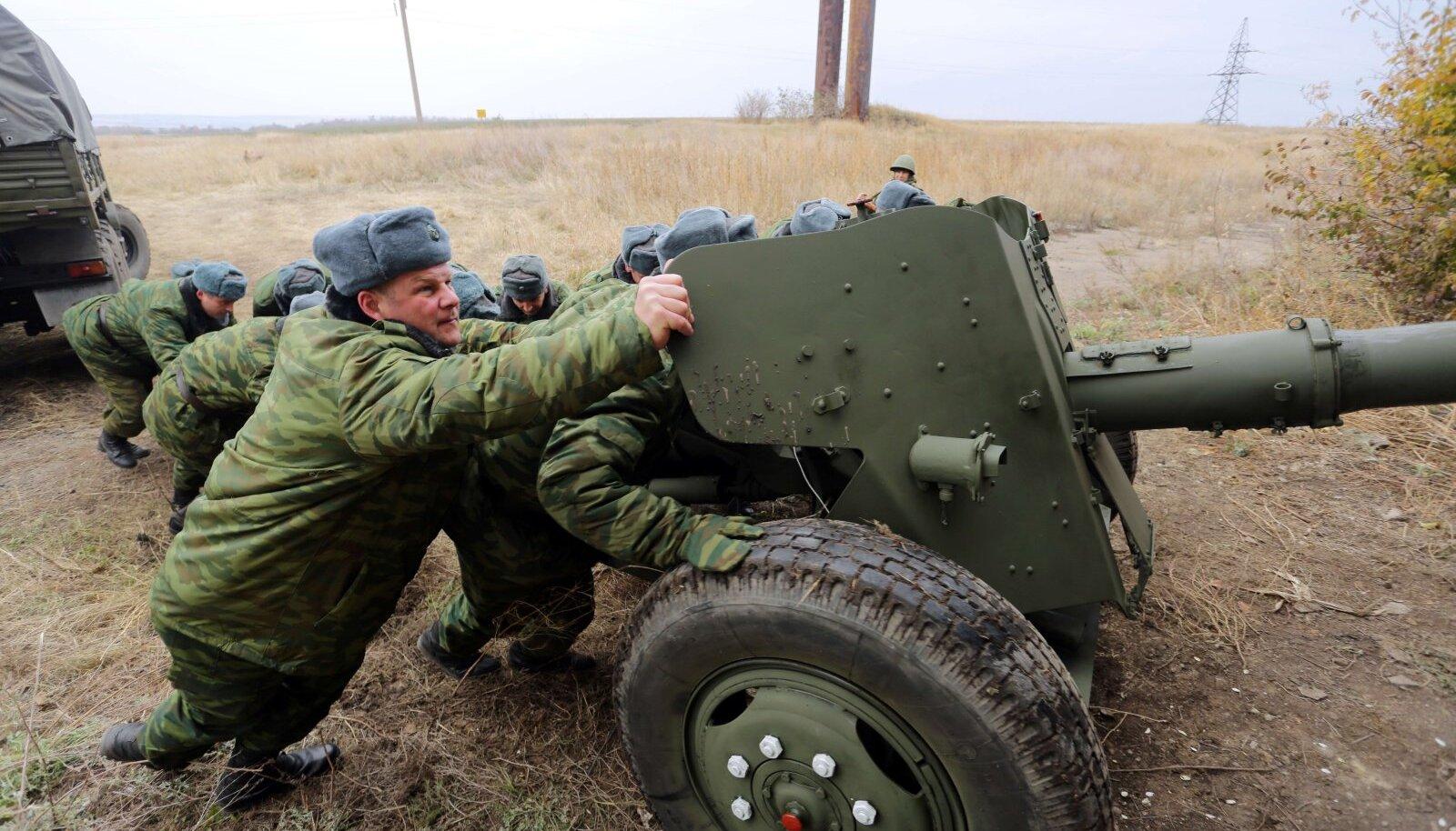 Donetski vägede 100 mm MT-12 Rapira tankitõrjekahur