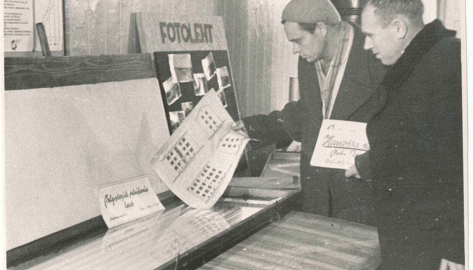 Valguskoopiate valmistamise laud aastast 1961.
