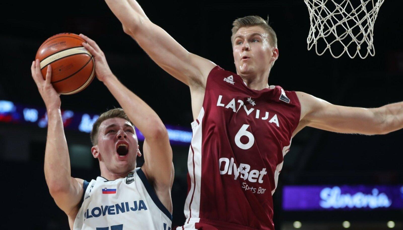 Läti pidi oma staari Kristaps Porziņģisega EM-ilt lahkuma. Sloveenia imelaps Luka Dončić saab koos kaasmaalastega medalite eest heitlemist jätkata.