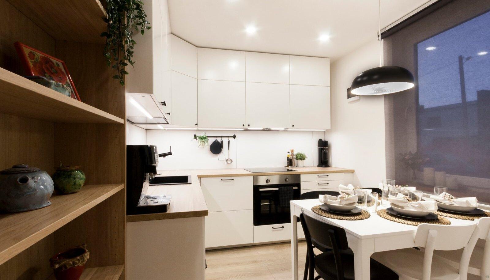Pärast ümberkorraldusi on köök märksa ruumikam ja avaram.