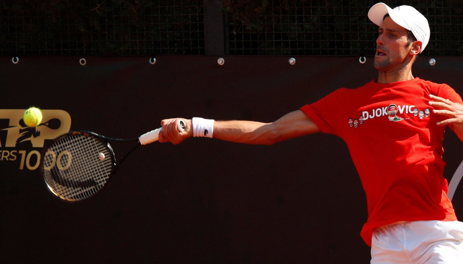 Novak Djokovic täna Roomas treeningul.