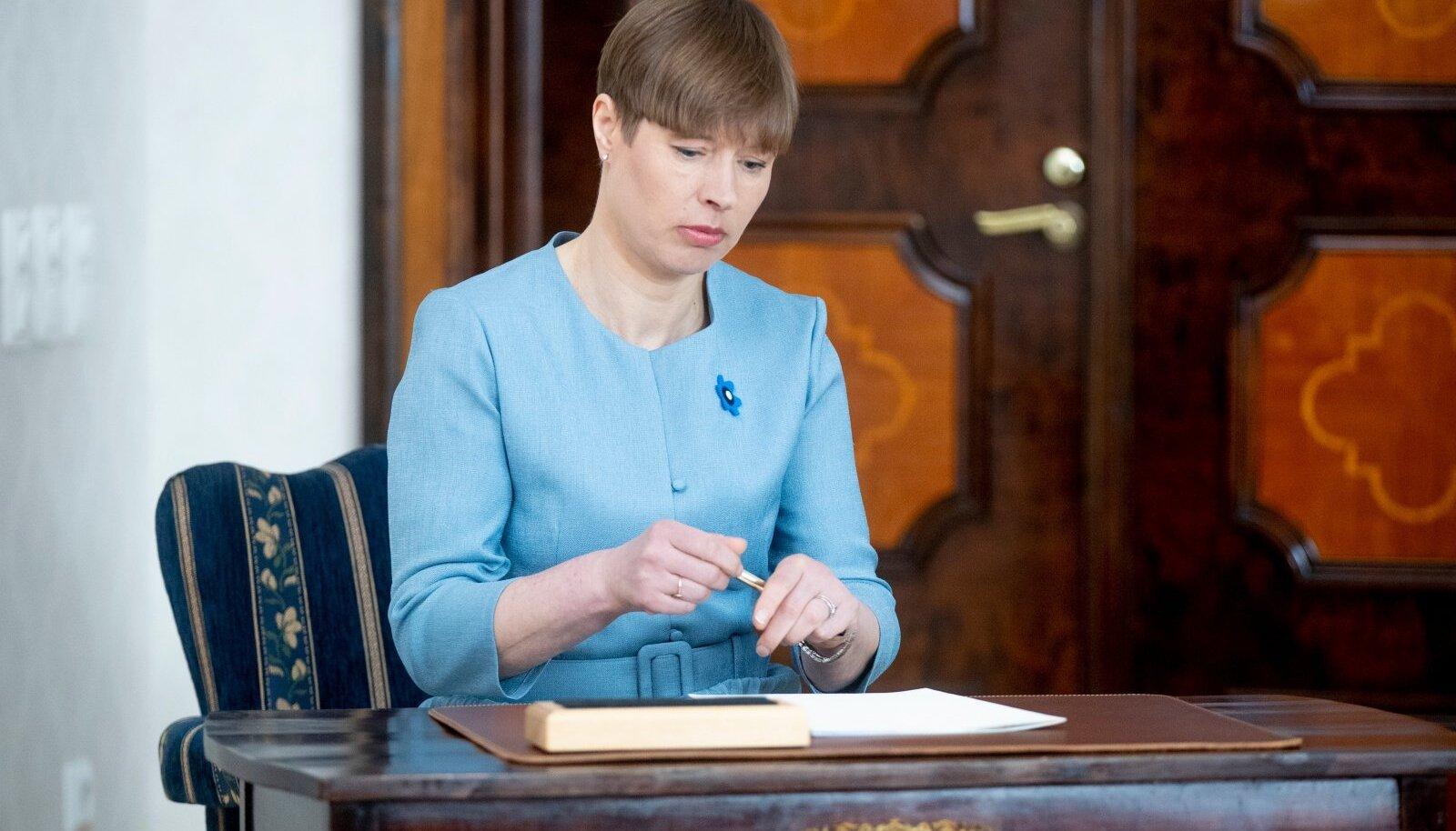 President Kersti Kaljulaidi veto