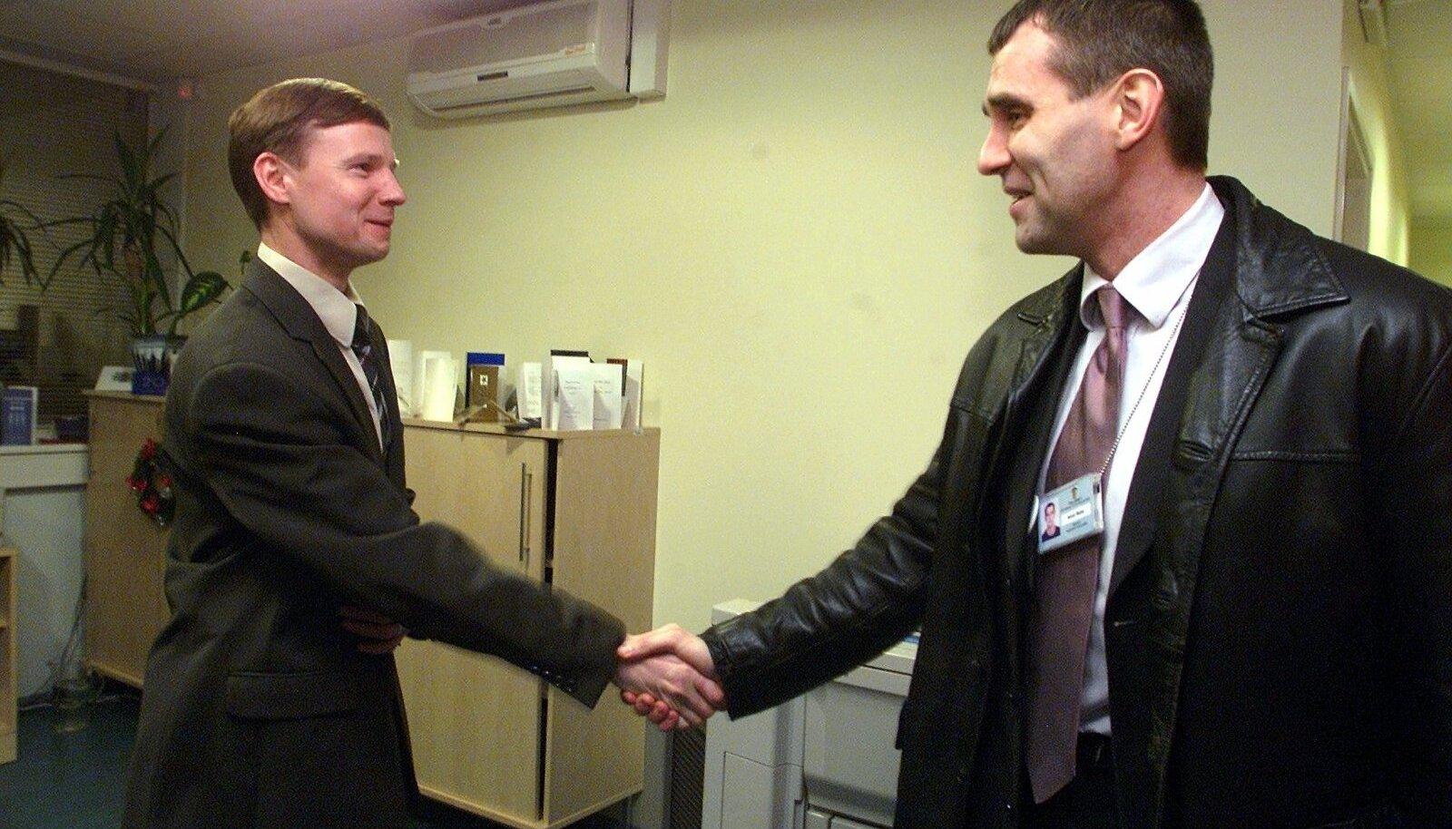 Aivar Sõerd (vasakul) ja Aivar Rehe 2004. aastal.
