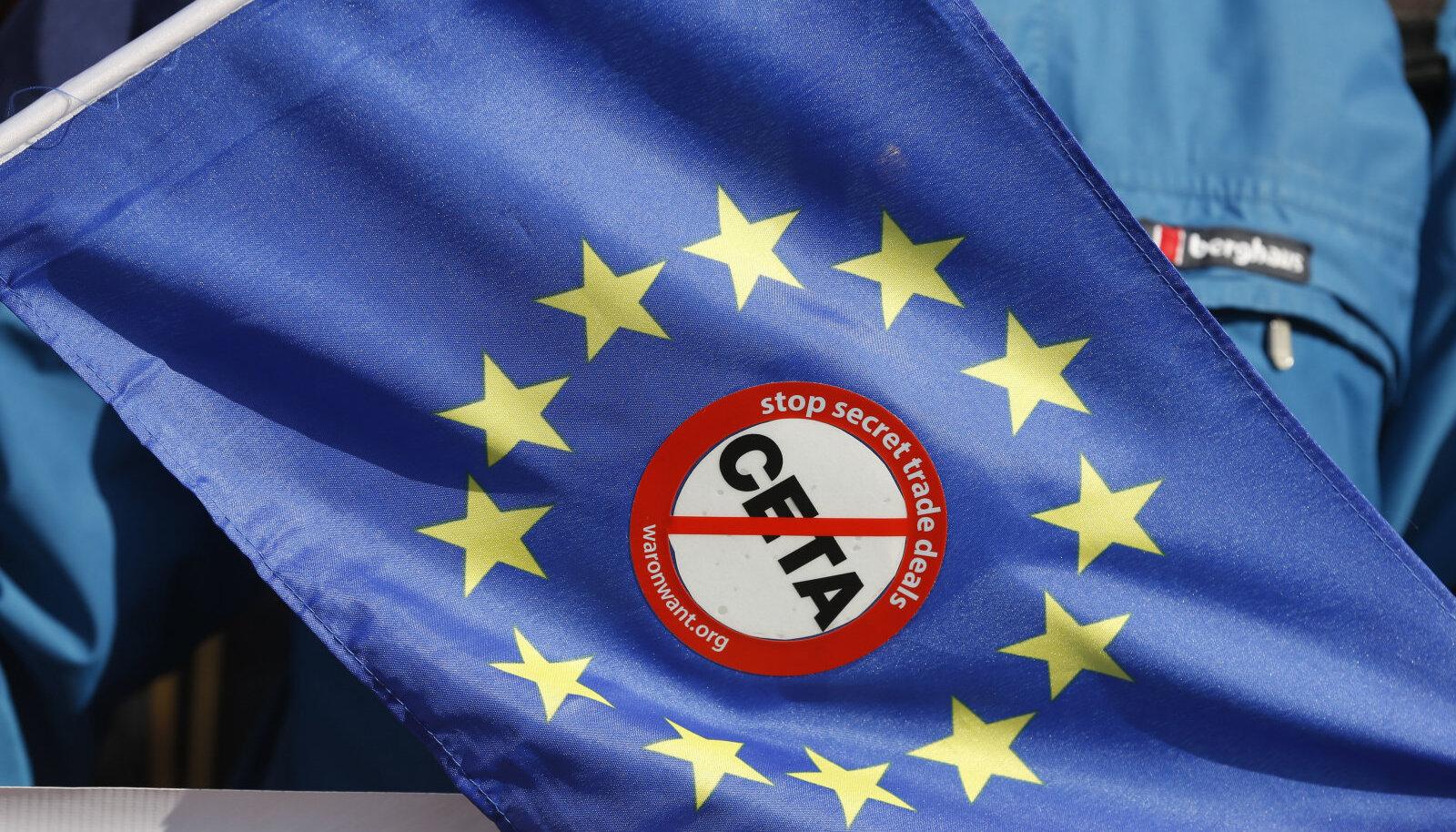 CETA-vastane meeleavaldus Prantsusmaal Strasbourgis
