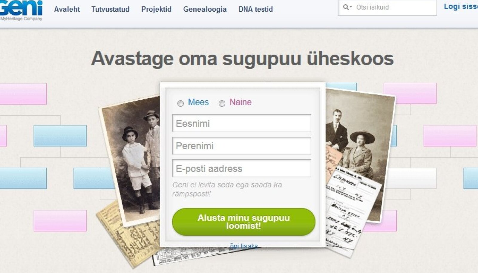 Geni eestikeelne avaleht