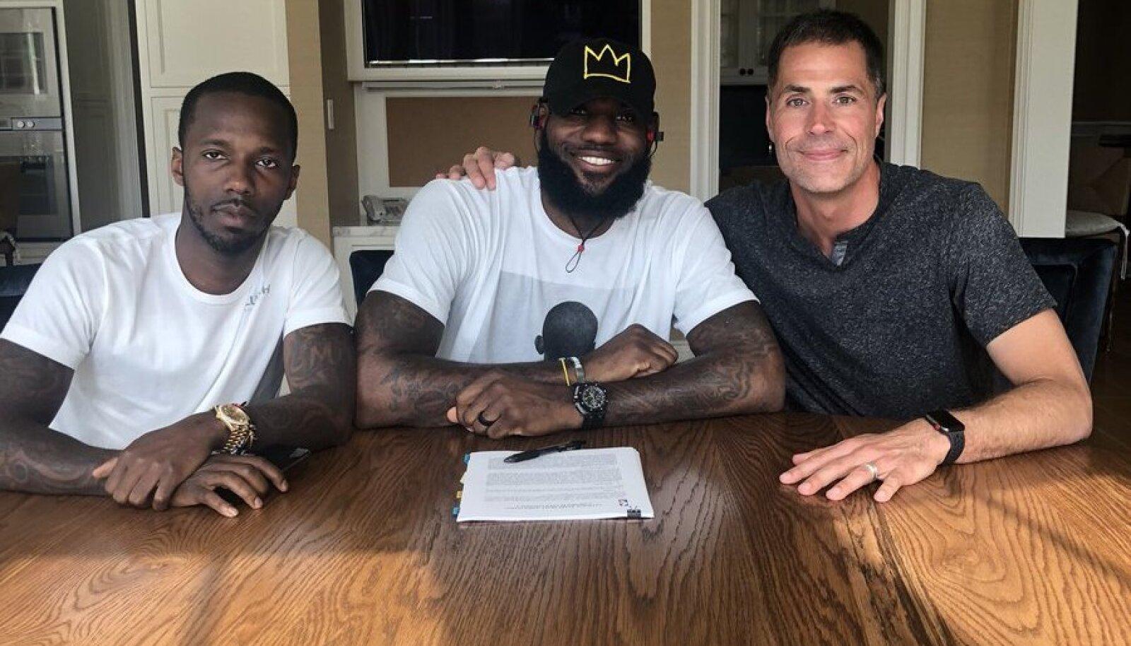 Rich Paul, LeBron James, Rob Pelinka