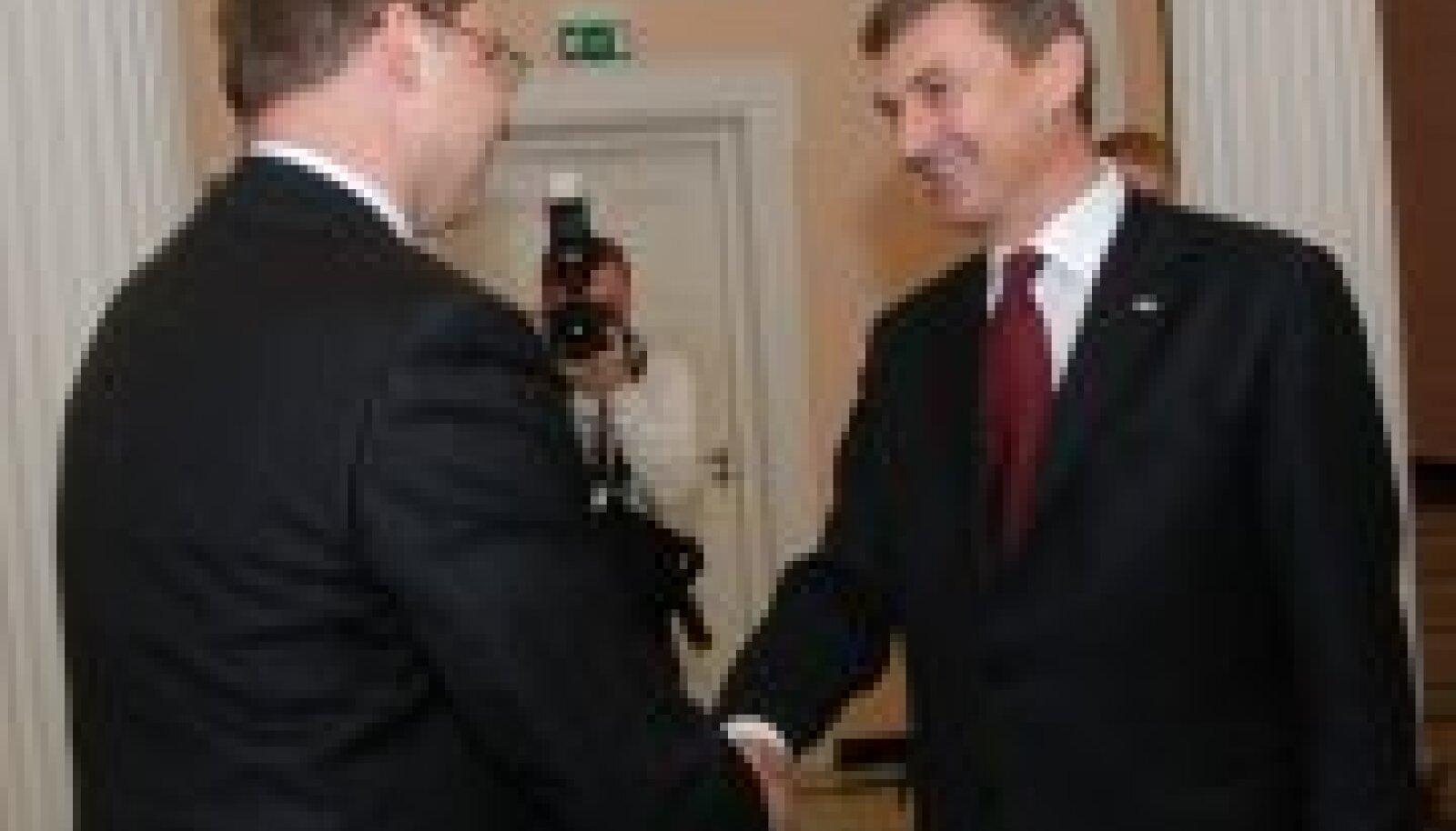 Andrus Ansip ja Valdis Dombrovskis
