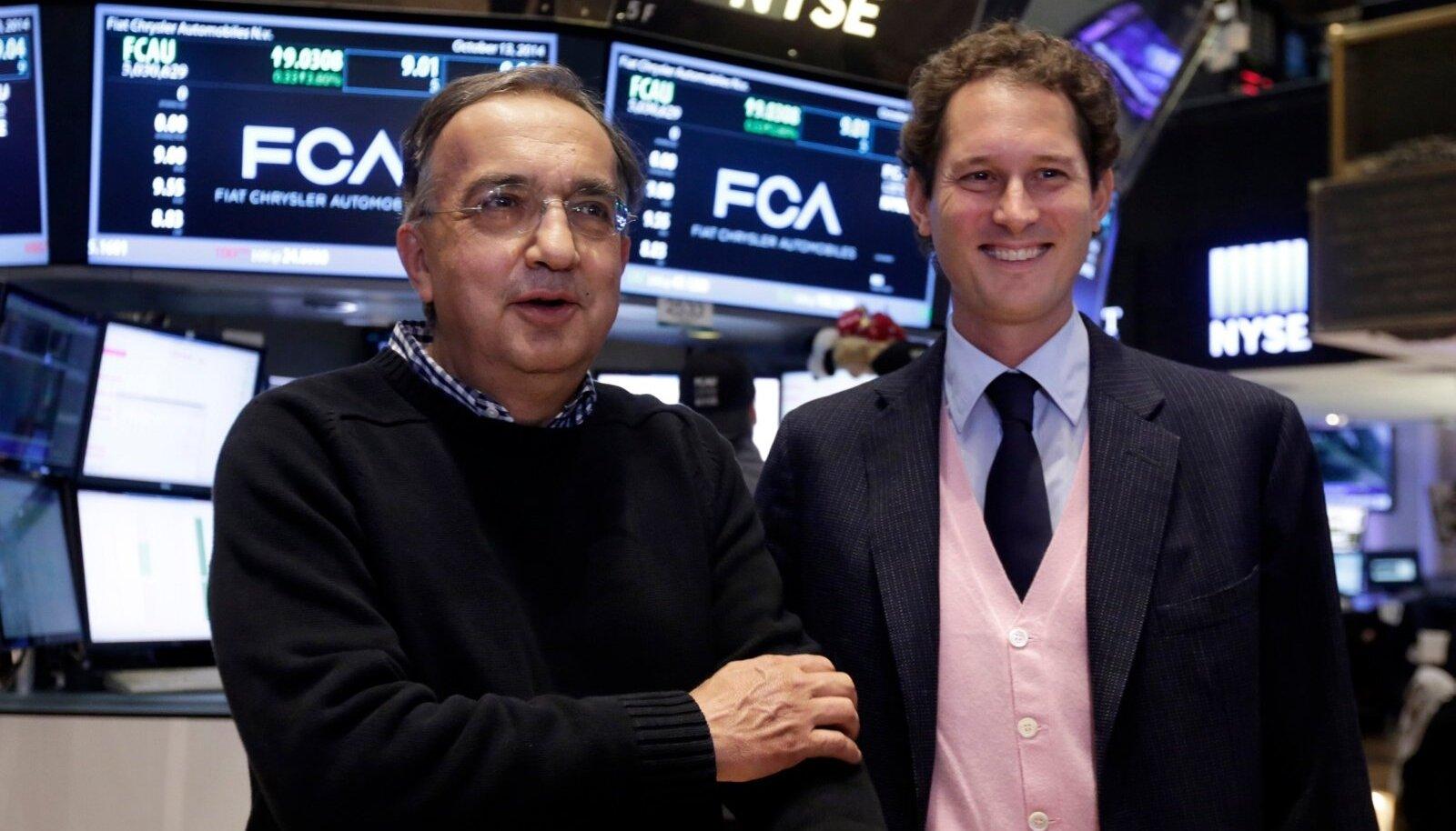 Fiat Chrysleri tegevjuht Sergio Marchionne ja juhatuse esimees John Elkann otsivad autotootjat kellega liituda.