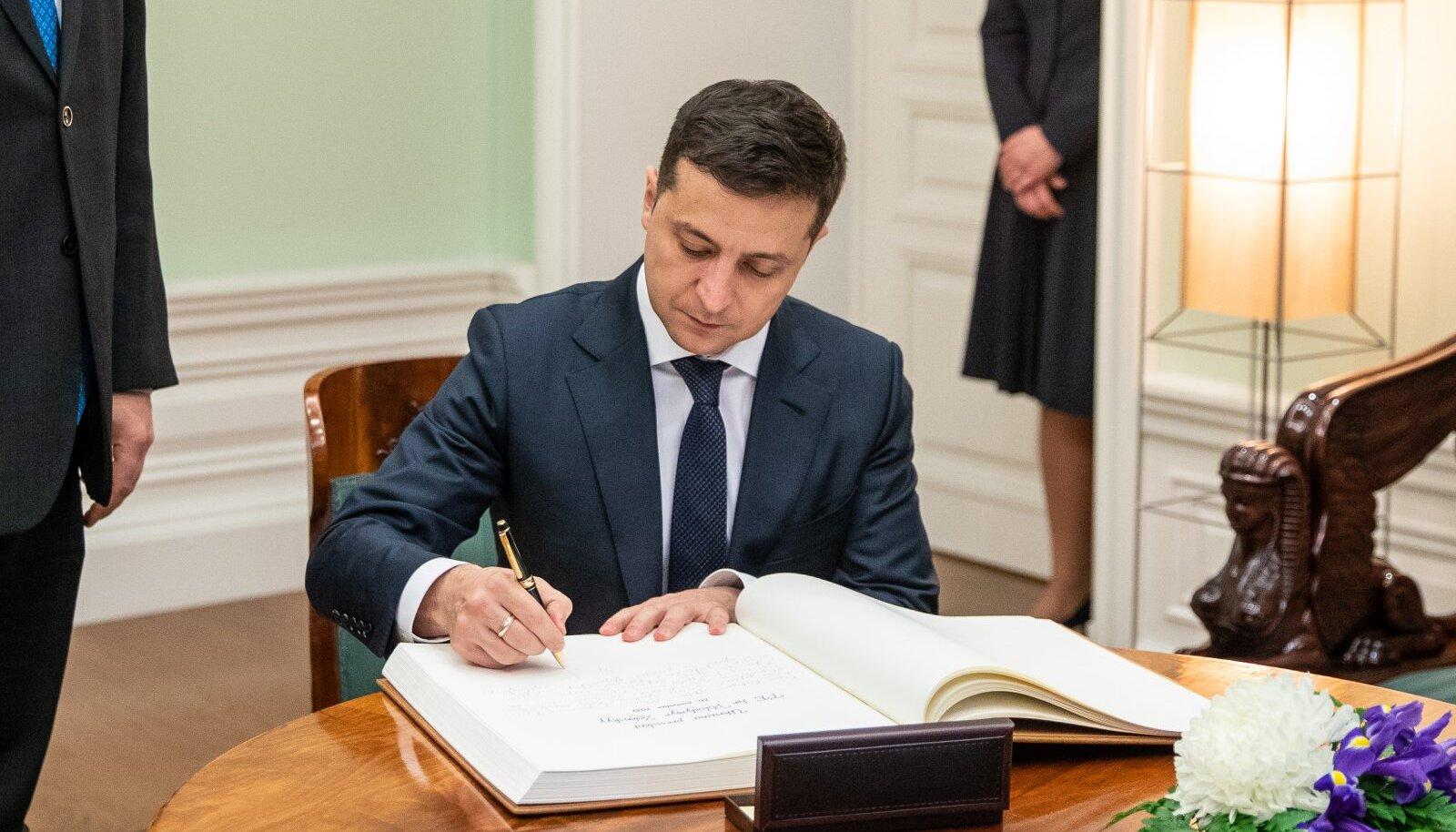 Владимир Зеленский во время визита в Эстонию