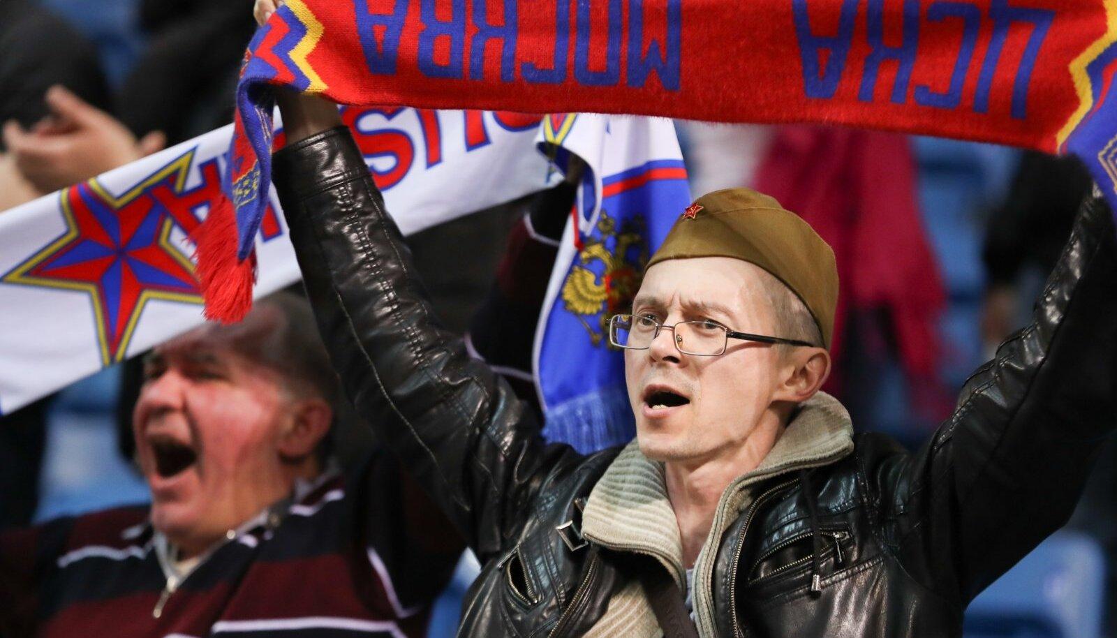 Moskva CSKA fännid