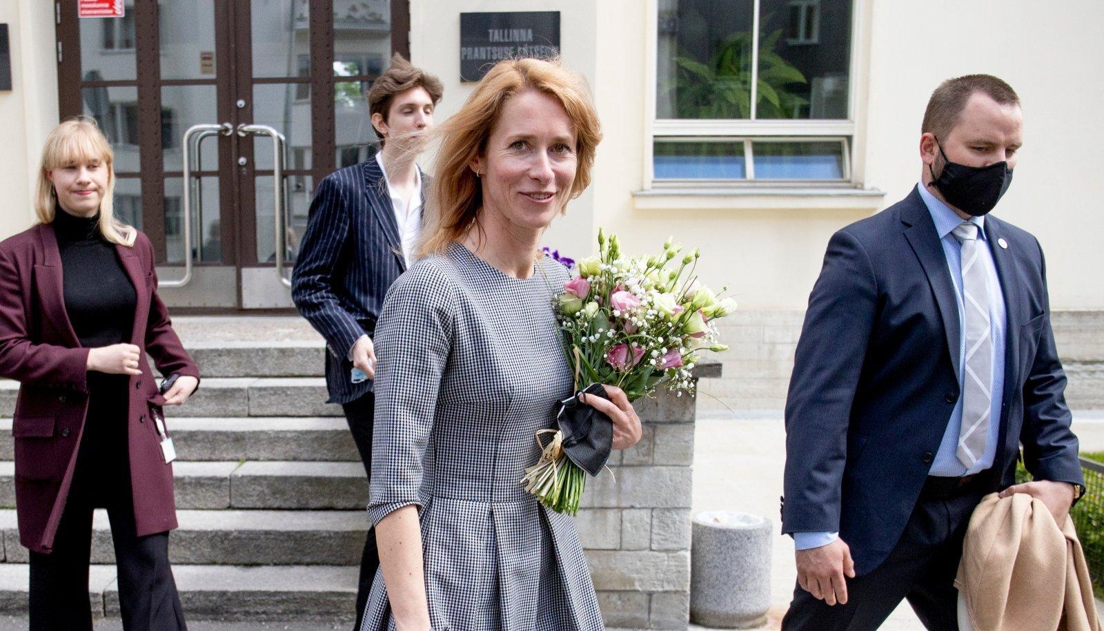 Peaminister Kaja Kallas väisas täna Tallinna Prantsuse Lütseumit