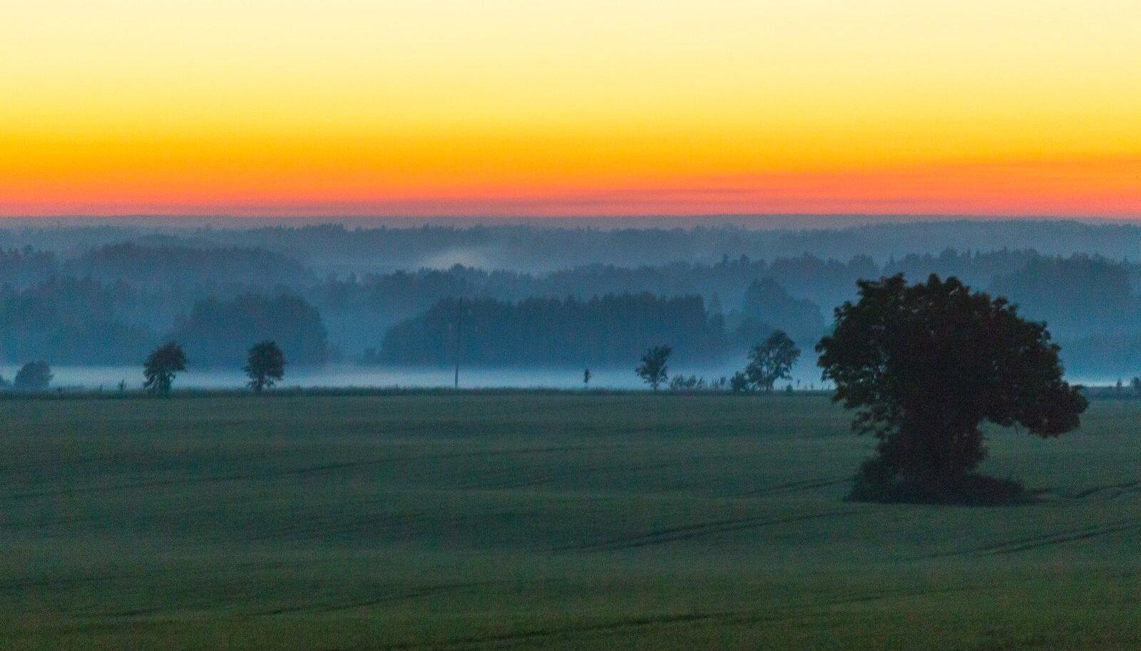 Jaaniöö päikesetõus aastal 2017.