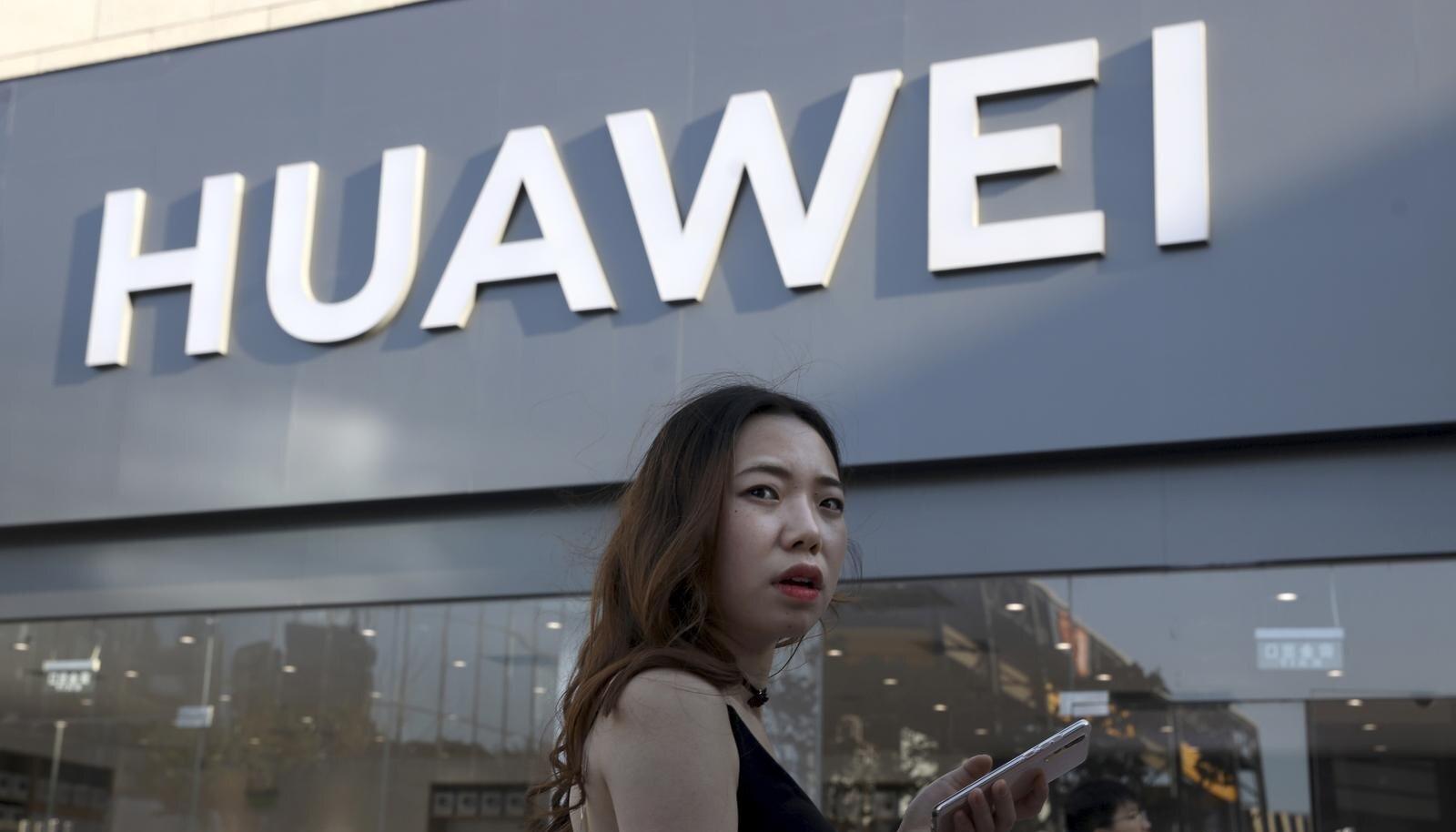 Huawei esinduskauplus Pekingis