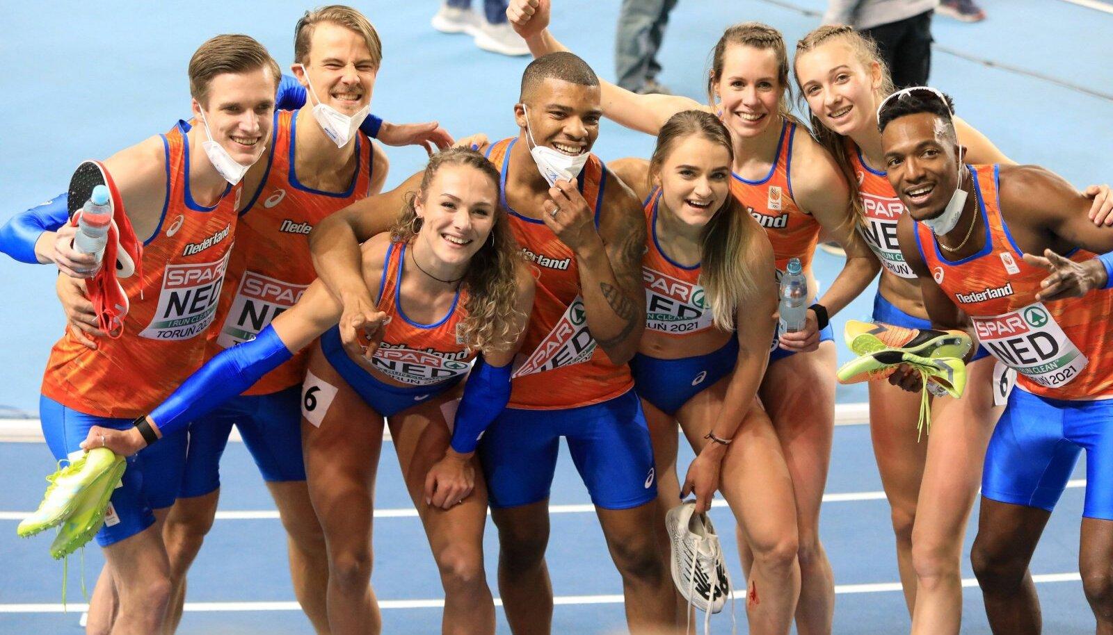 Hollandil läks sportlikult väga hästi, nelja kullaga trooniti medalitabeli tipus, võideti nii meeste kui ka naiste 4 x 400 meetri jooksud, paraku on nüüdseks kaheksa koondislast nakatunud koroonaviirusesse.