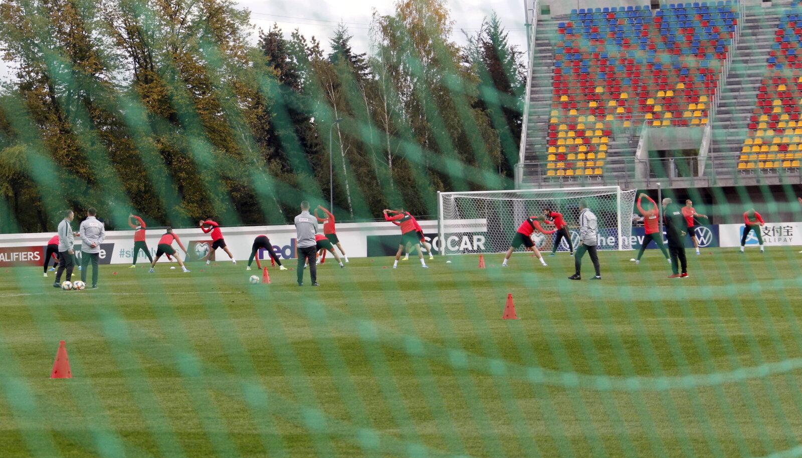 Poola koondis Riia staadionil