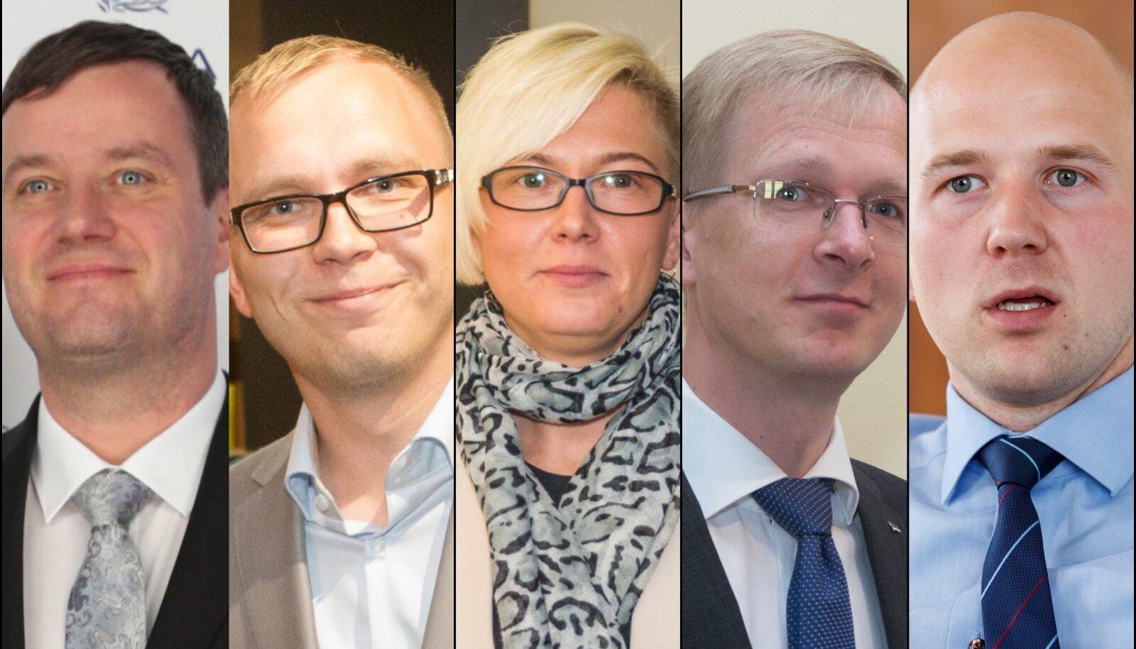 HEA ELU: Marek Jürgenson, Taavi Pukk, Moonika Parksepp, Tiit Terik, Tõnis Mölder kuuluvad enimteenivate keskerakondlaste hulka.