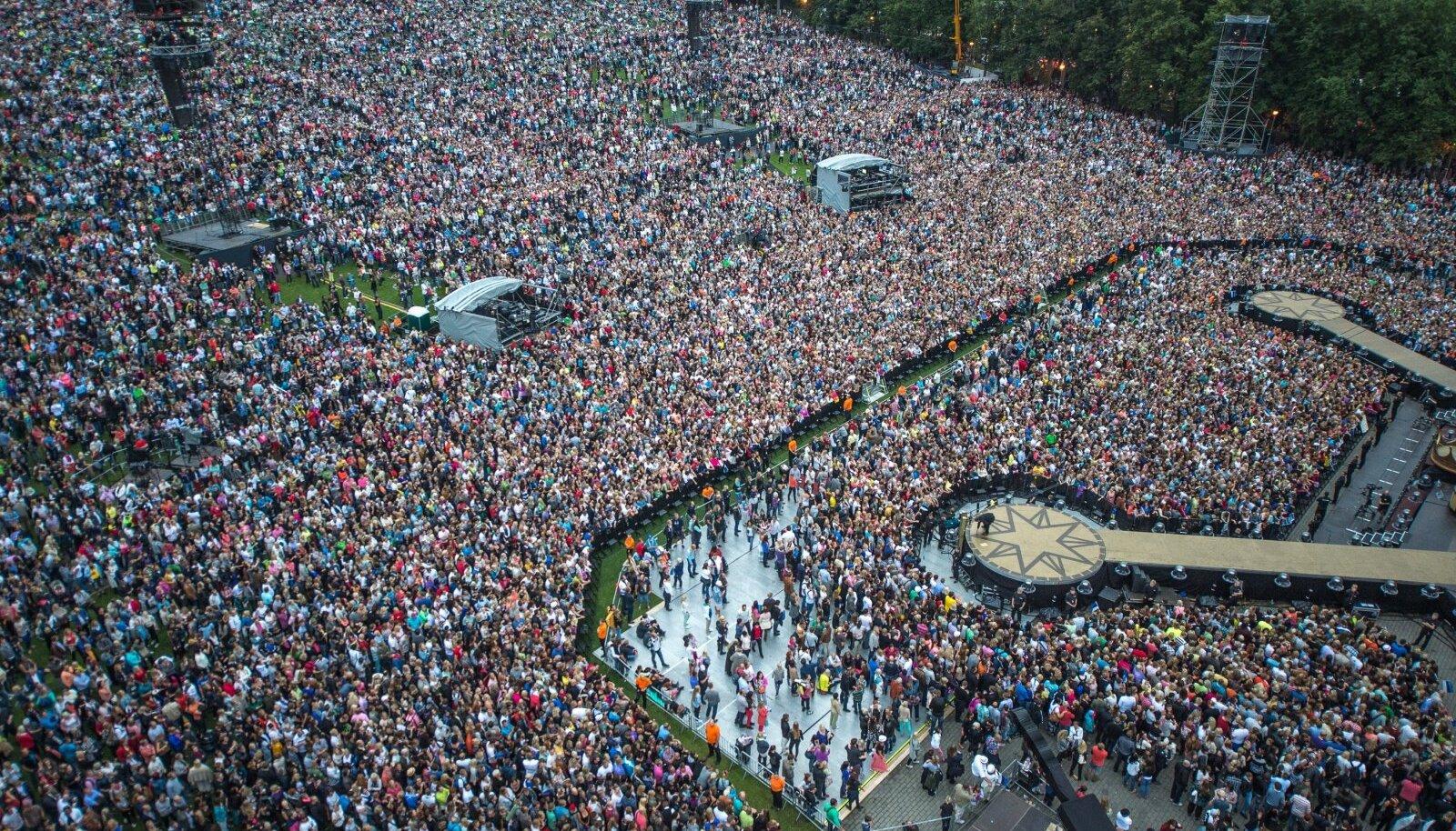 Robbie Williamsi kontserti väisas aastaid tagasi umbes 60 000 inimest. 150 000 inimest lahkus teisest sambast