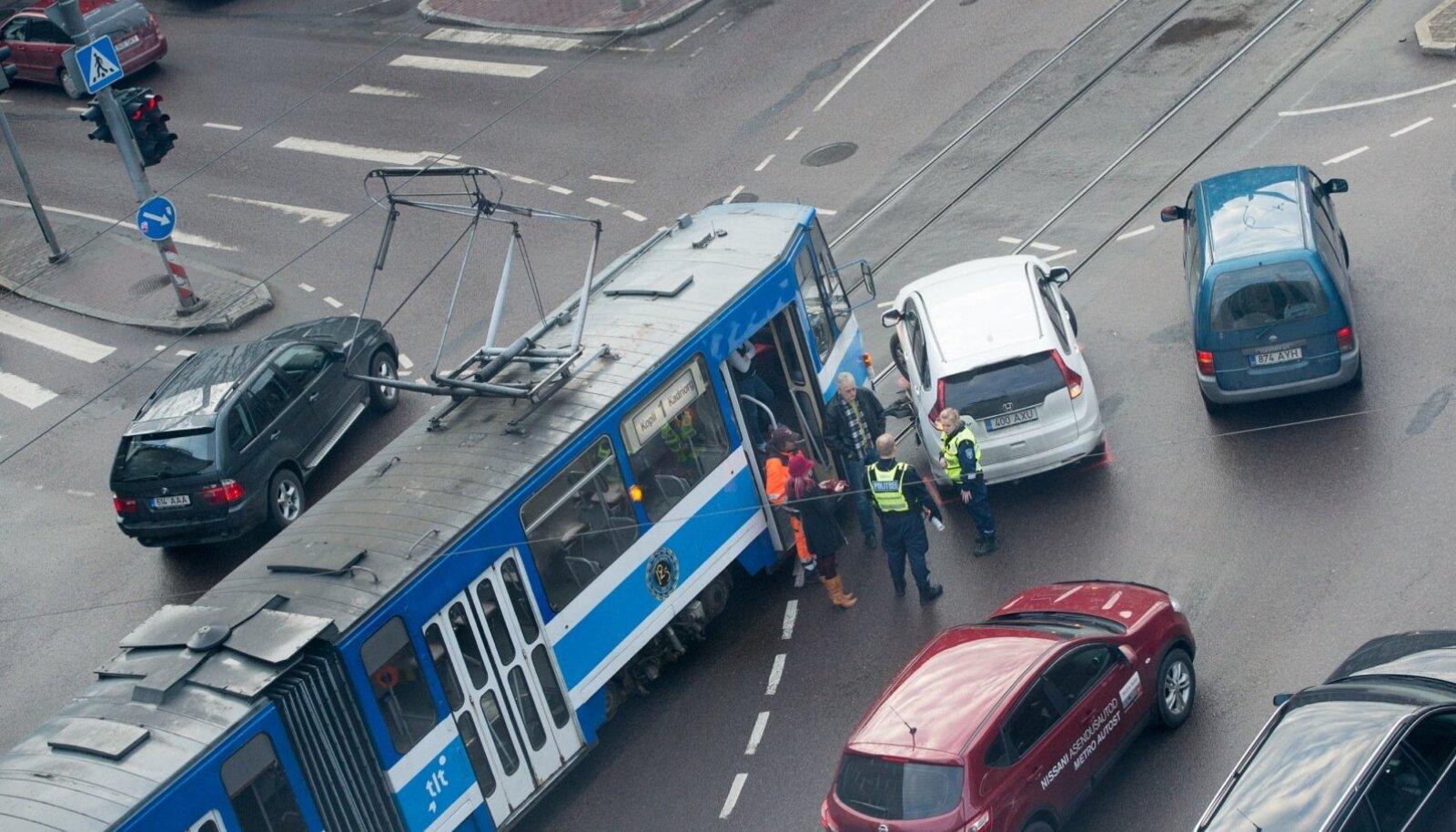 Plekimõlkimine Narva maantee ristmikul