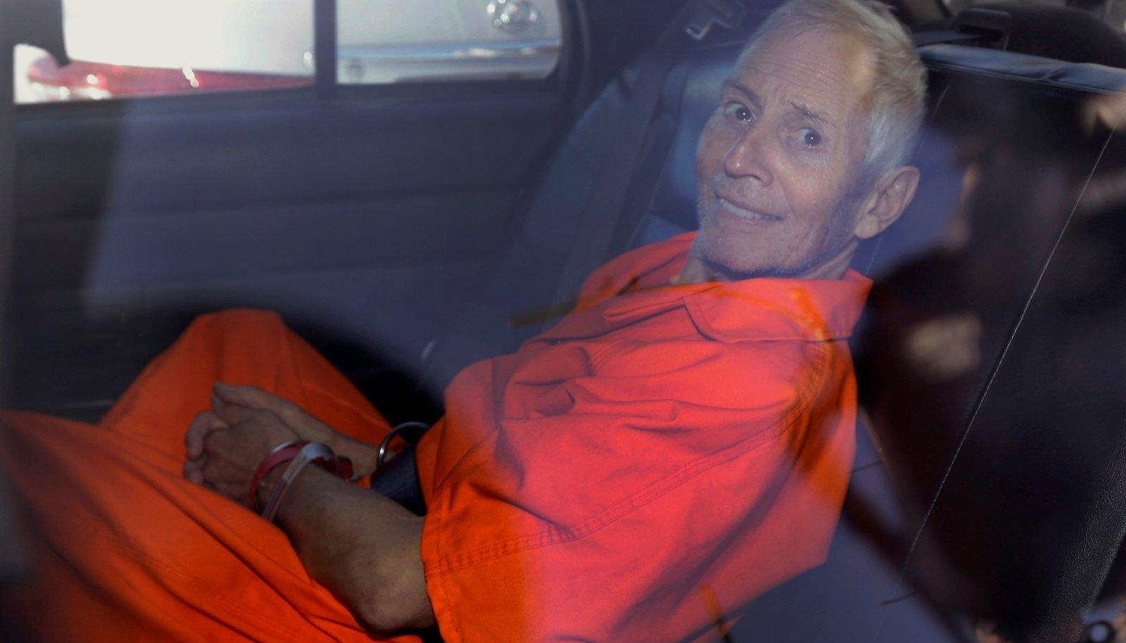 TERVIS KEHV: Robert Durst vanglariietes. Viimasel ajal on 76aastane Durst pidanud läbi tegema mitu rasket operatsiooni. Pole selge, kas ta enda kohtuprotsessi lõpuni kestab.