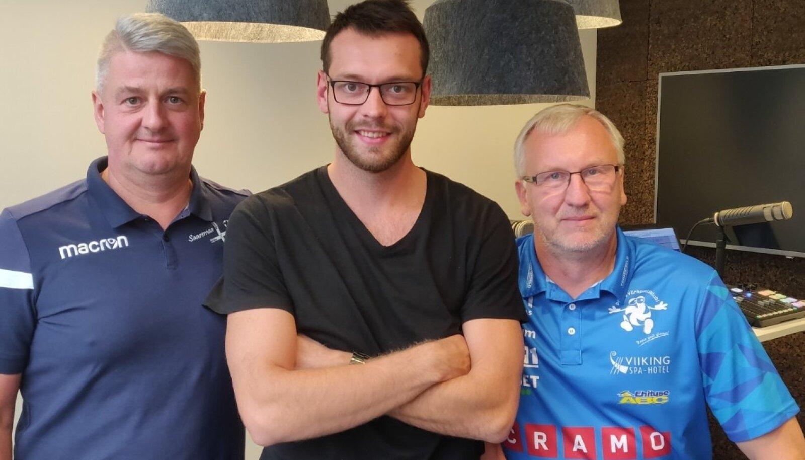 Urmas Tali, Karl Rinaldo ja Avo Keel Manta maja stuudios.