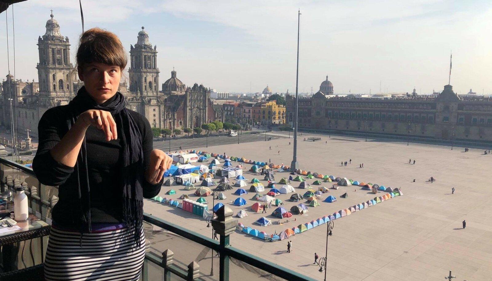 "Vaade Gran Hotel Ciudad de México katusealusest kohvikust, mida loo autor tänu ""Queens Gambitile"" ihales"